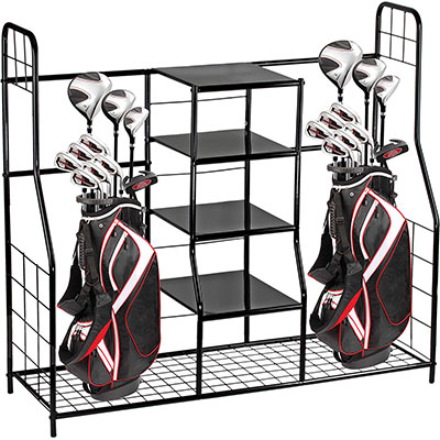Home-it Dual Golf Storage Organiser Rack